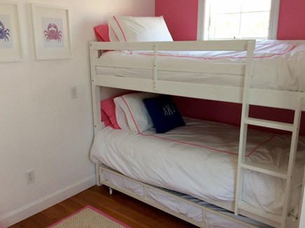 Falmouth Heights Cape Cod vacation rental - Twin over twin bunk with additional twin trundle