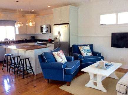 Falmouth Heights Cape Cod vacation rental - Kitchen and family room