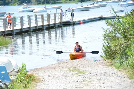 East Orleans Cape Cod vacation rental - Kayaking at Meeting House Pond a 5 minute walk away