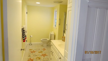 West Harwich Cape Cod vacation rental - Full Bathroom on 1st floor with shower