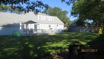 West Harwich Cape Cod vacation rental - huge deck w/ grill, table & chairs