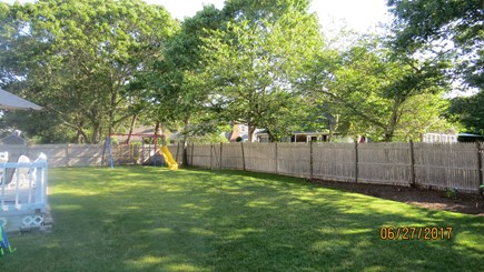 West Harwich Cape Cod vacation rental - Big yard w/ swingset for kids