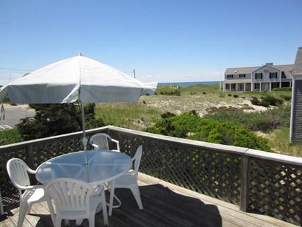East Dennis Cape Cod vacation rental - Deck overlooks the beach