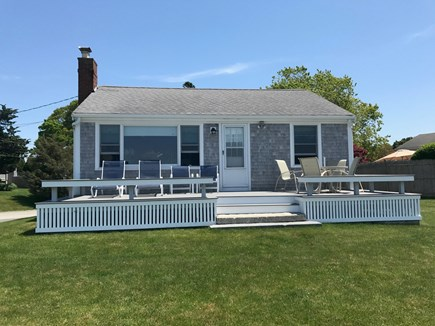 Bourne Cape Cod vacation rental - Front deck overlooking the beach