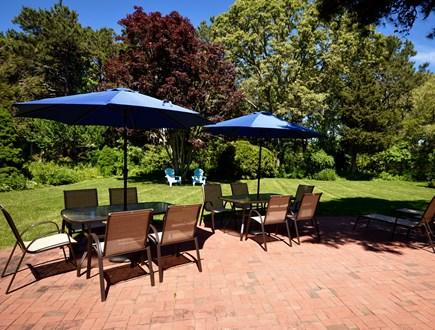 Orleans Cape Cod vacation rental - Outdoor dining seats 10 plus chaise lounges and more patio seatin