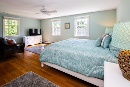 Orleans Cape Cod vacation rental - Upstairs king room with overhead fan, walk-in closet and ensuite
