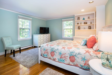 Orleans Cape Cod vacation rental - Main floor queen bedroom with flat screen TV and ensuite