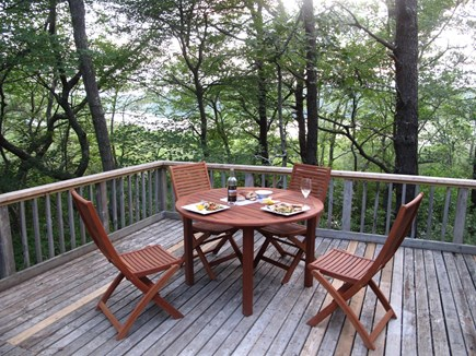 Wellfleet Cape Cod vacation rental - Large deck overlooks pond. Ideal for sunbathing, BBQ,  sunsets