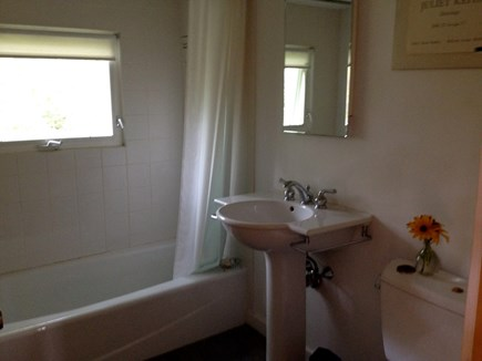 Wellfleet Cape Cod vacation rental - Modern tiled bathroom.