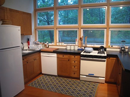 Wellfleet Cape Cod vacation rental - Modern, open, fully appointed kitchen.