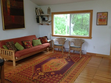Wellfleet Cape Cod vacation rental - Living area includes fold out futon couch.