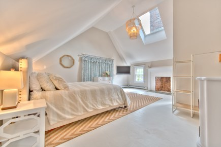 Harwich Port Cape Cod vacation rental - Upstairs master king bed with central AC, TV and en-suite bath