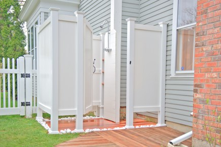 Harwich Port Cape Cod vacation rental - Oversize outdoor shower with hot water