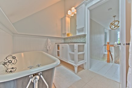 Harwich Port Cape Cod vacation rental - Upstairs bath with separate shower and bath tub