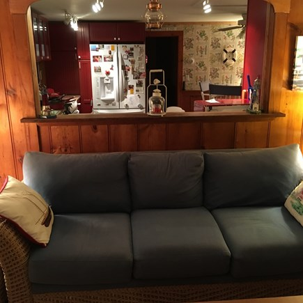 Harwich Port Cape Cod vacation rental - Living Room Opens to the Kitchen