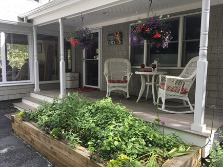 Harwich Port Cape Cod vacation rental - Front Porch with Peeks of Family Room on the left