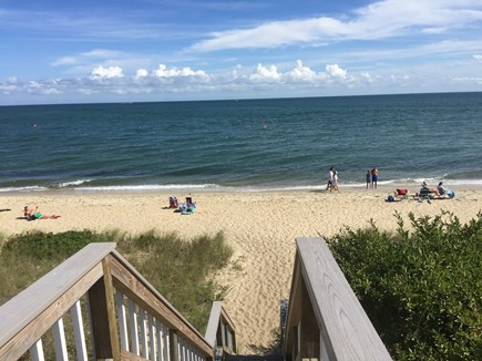 Mashpee / Popponesset Cape Cod vacation rental - A short walk & then one flight down to the private beach.