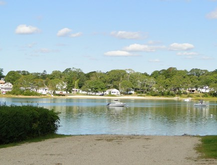 Bourne, Buzzards Bay Cape Cod vacation rental - Landing area seen from front porch