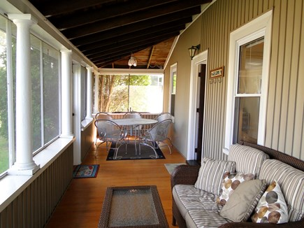 Bourne, Buzzards Bay Cape Cod vacation rental - Large front porch – places to dine and relax