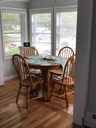 South Yarmouth Cape Cod vacation rental - Bright dining area in kitchen...table enlarges to sitting for 6