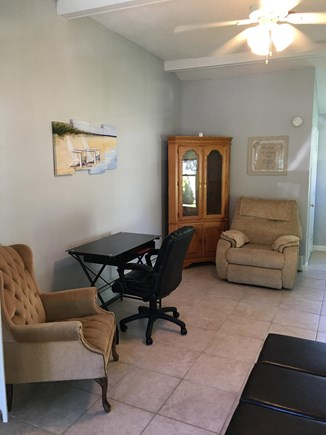 South Yarmouth Cape Cod vacation rental - Large game room with vacation work space