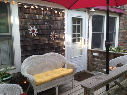 Eastham Cape Cod vacation rental - Sunset Deck off living room - perfect for relaxing and reading.