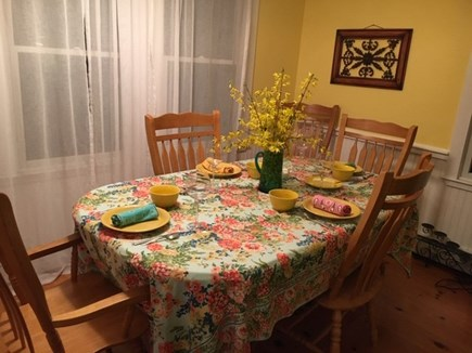 Eastham Cape Cod vacation rental - Dining area adjacent to kitchen & living room. Seating for 6