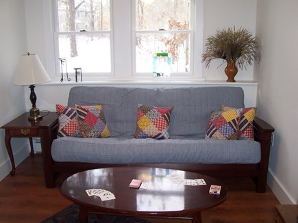 Eastham Cape Cod vacation rental - Den - trundle day bed, easy chair, chest with games and smart TV