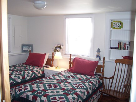 Eastham Cape Cod vacation rental - Twin Room on lower level with rocker, dresser & closet