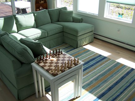 Truro Cape Cod vacation rental - Living room - Open to Above