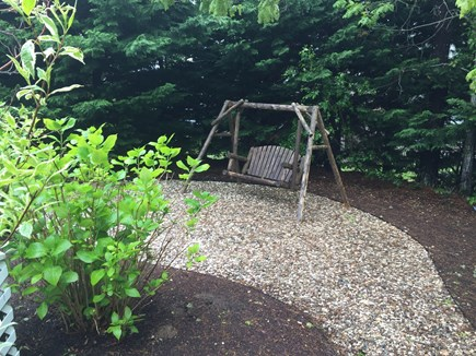 Chatham Cape Cod vacation rental - Two person swing behind house