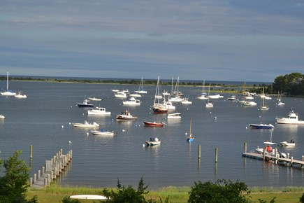 Cotuit Cotuit vacation rental - Morning view of Cotuit Bay from the patio