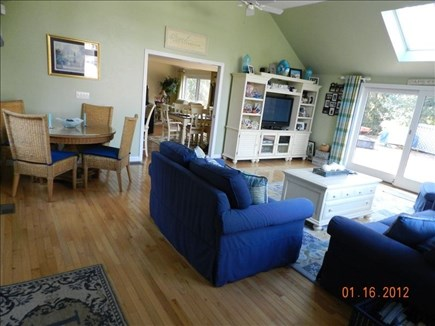 New Seabury, Mashpee New Seabury vacation rental - Great Room with dining area & sliders to the deck