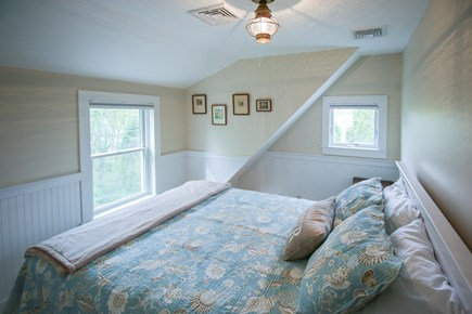 South Chatham Cape Cod vacation rental - Bedroom #2 with a queen bed and partial water views