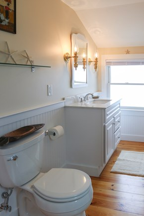 South Chatham Cape Cod vacation rental - Second floor bathroom with glass enclosed shower