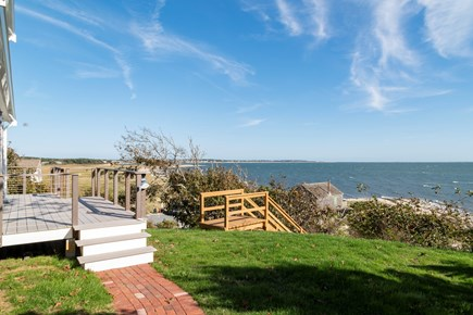 South Chatham Cape Cod vacation rental - Front yard with water views over Nantucket Sound