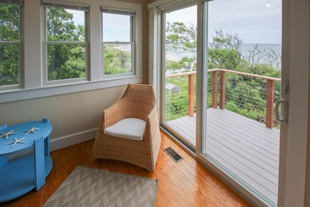 South Chatham Cape Cod vacation rental - Sun room with water views