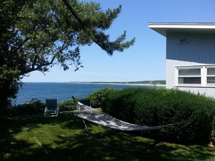 Falmouth Cape Cod vacation rental - Lawn area on side of house