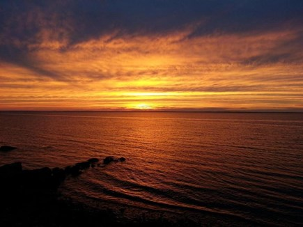 Falmouth Cape Cod vacation rental - Sunset from backyard/house