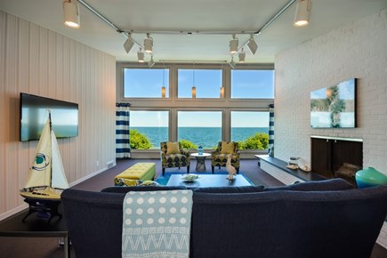 Falmouth Cape Cod vacation rental - Family Room with direct ocean view