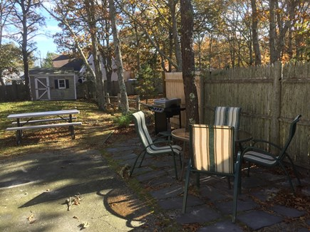 South Yarmouth Cape Cod vacation rental - Grill, patio table, picnic table