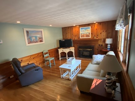 South Yarmouth Cape Cod vacation rental - Newly painted and lighted livingroom
