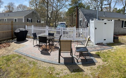 South Yarmouth Cape Cod vacation rental - New patio with new fencing