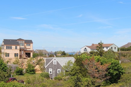 Truro Cape Cod vacation rental - Distant Water View Towards Provincetown From Balcony Roof Deck