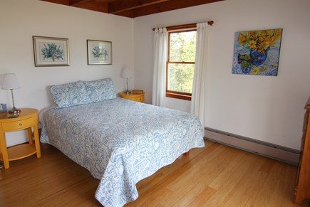 Truro Cape Cod vacation rental - Bedroom 1 - Queen Bed; First Floor with Glass Slider to Deck
