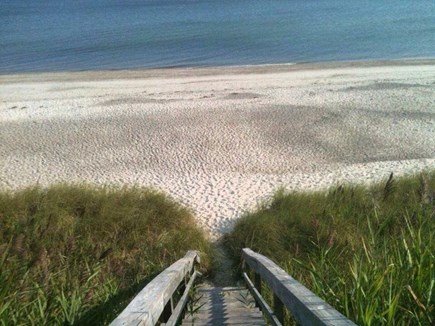 East Sandwich Cape Cod vacation rental - Stairs to private beach