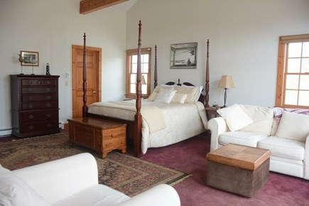 East Sandwich Cape Cod vacation rental - Large Queen master bedroom suite, with doors out to deck.