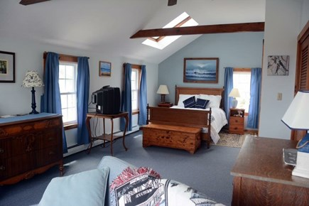 East Sandwich Cape Cod vacation rental - Smaller double master bedroom suite with access to deck, skylight