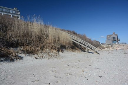 East Sandwich Cape Cod vacation rental - Stairs down to private beach