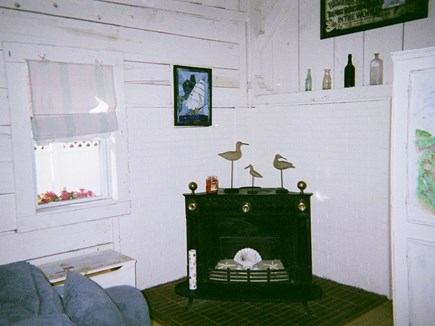 West Harwich Cape Cod vacation rental - Light candles in fire place for romantic evening